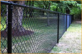high quality chain link fence black post and paint chain link fence black mesh