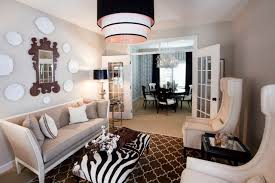 Design For Dining Room Fascinating Black White LivingDining Room Eclectic Living Room Other