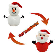 【IN STCOK】 <b>Santa</b> Claus Doll <b>Double</b>-sided Flip Father Christmas ...