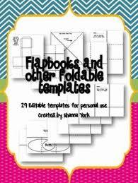 Editable Foldable Templates 36 Editable Lapbook And Fold It Templates Science Pinterest
