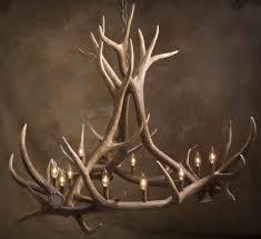 posts for antler chandelier kit