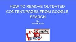 Outdated Remove Google Page Content
