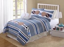 boy bedspreads and comforters | white striped sports bedding, all ... & Winner Takes All is a new quilt set recently added to Just Boys Bedding ,  and it is another great addition to the lineup of sports bedding . Adamdwight.com