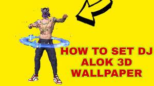 set 3D free fire dj alok wallpaper ...