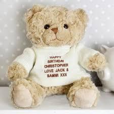 personalised teddy bear cream jumper
