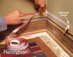 how to hide wiring speaker and low voltage wire the family handyman exposed speaker jacks