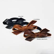 leather bow hair ties ha04 ha05
