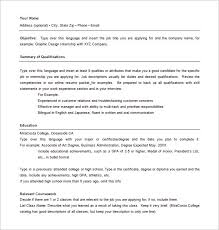 Hybrid Resume Template Word Combination 10 Free Excel Pdf Format