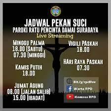 Salam sejahtera bapak, ibu, saudara/i yang diberkati tuhan. Keuskupan Surabaya