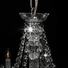 Vidaxl Kronleuchter Silbern 12xe14 Fassungen Kristall Lüster