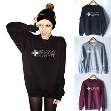 Grey Sloan Memorial Hospital Sweatshirt Fashion Womens Crewneck Tumblr Shirt Greys Anatomy Hoodie