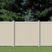 vinyl fence panels home depot. Vinyl Woodbridge Tan Privacy Fence - The Home Depot Panels