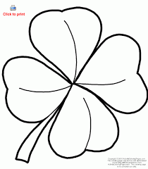 Small Picture Four Leaf Clover Coloring Page St Patricks Day Holidays