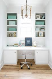tiffany blue office. White Built In Desk With Tiffany Blue Acccents Office