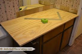 bathroom makeover day 2 my 35 diy wood countertop intended for plywood ideas plans 21