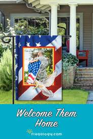 military homecoming flag patriotic garden flag designs you can easily add your photos to