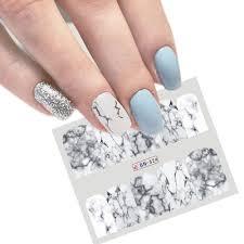 Nail Stickers Decal Převod Vody White Mramor Nail Sticker Nail Art At Vova