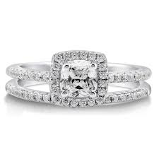 Sterling Silver Cushion Cubic Zirconia Cz Halo Engagement
