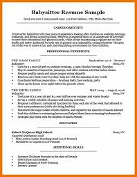 How To Put Babysitting On A Resume 8 How To Put Babysitting On Resume Cv Consultant4 5 How To Put