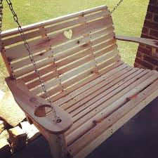 the solder branded small porch swing design
