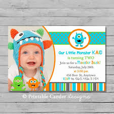 Lil Monster Birthday Invitations