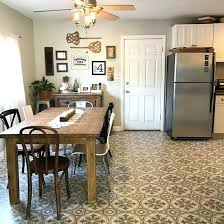 can you paint kitchen floor tiles a stenciled and painted linoleum kitchen floor using the abbey tile stencil from cutting edge hand painted ceramic kitchen