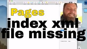 pages index xml file missing error fix
