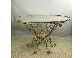 unusual gilt brass cut glass coffee table