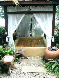 backyard mosquito netting porch net garden pergola with and outdoor bathtub beautiful summer for per