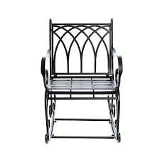 metal outdoor rocking chairs garden chair uk black
