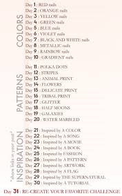 aly loves lacquer 30 day challenge list