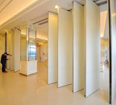 auditorium interior decorated wooden movable partition walls sliding room dividers