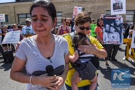 Immigration cn Trump's news Held Child-separation Seattle Policy Against - English Protest Xinhua In