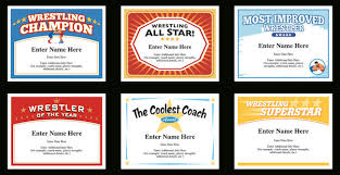 Award Templates Wrestling Certificate Templates Wrestlers Awards And Recognition