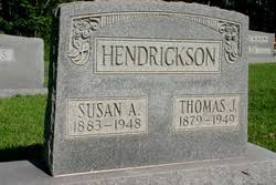 Susan Amia Vaughn Hendrickson (1883-1943) - Find A Grave Memorial