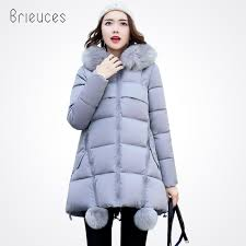 <b>Brieuces winter jacket women</b> 2017 long cotton-padded hooded ...