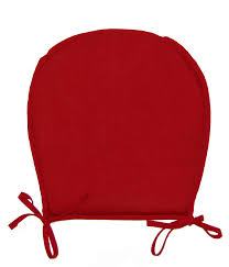 chic red plain color kitchen chair cushions australia style with ties suitable for cool black wrought