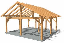 24 24 timber frame king post pavilion