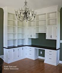 home office in dining room. dining room home office built ins full view in