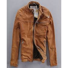 new style men s brown suede leather jacket