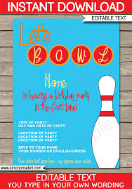 bowling invitation templates bowling party invitations template birthday party