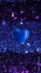 Glitter heart phone wallpaper sparkle ...
