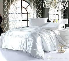 silk bedspread silk bed set queen white satin duvet cover solid color 4 imitation silk bedding silk bedspread