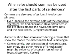 when is a comma used commas new