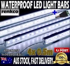 4x cool white 5630 led strip lights waterproof bars camping boat car 4x12v waterproof cool white 5630 led strip lights bars for car camping boat 12v led