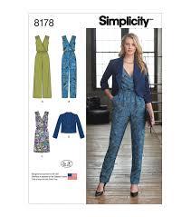 Simplicity Jumpsuit Pattern Magnificent Simplicity Pattern 48 Misses' Jumpsuit Dress JacketSize H48 48