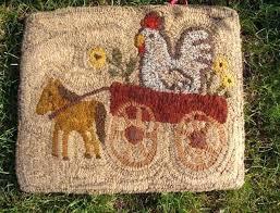 primitive hooked rugs on spirit rug hooking patterns grace kits