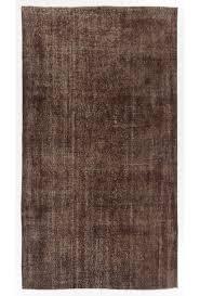 5 4 x 9 7 163 x 294 cm brown color vintage overdyed handmade turkish rug brown overdyed rug