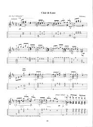 clair de lune sheet music guitar clair de lune james bishop edwards
