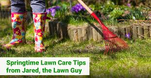 springtime lawn care tips from jared the lawn guy